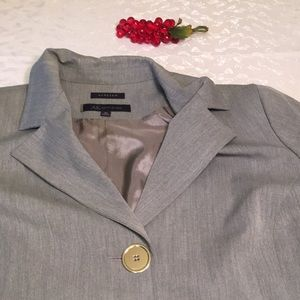 Anne Klein 16 gray stretch blazer